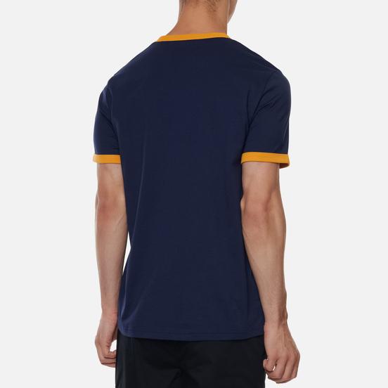 Мужская футболка Fred Perry Ringer Carbon Blue/White