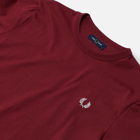 Мужская футболка Fred Perry Ringer Tawny Port/White