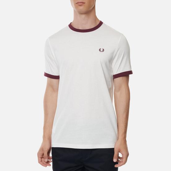 Мужская футболка Fred Perry Ringer Snow White/Black/Black