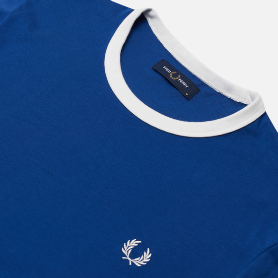 Мужская футболка Fred Perry Ringer Nautical Blue