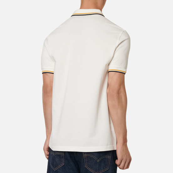 Мужское поло Fred Perry M3600 Twin Tipped Snow White/Gold/Black
