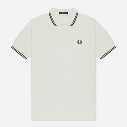 Мужское поло Fred Perry M3600 Twin Tipped Snow White/Graphite/Black