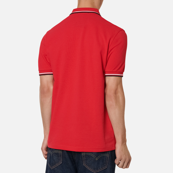 Мужское поло Fred Perry M3600 Twin Tipped Jester Red/White/Black