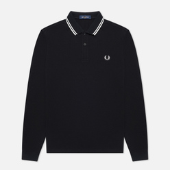 Мужской лонгслив Fred Perry Polo Twin Tipped Black/Porcelain