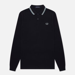 Мужской лонгслив Fred Perry Polo Twin Tipped Navy/Snow White/Ice