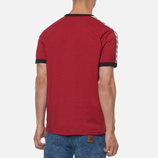 Мужская футболка Fred Perry Taped Ringer Deep Red