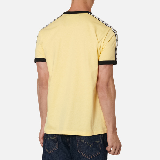 Мужская футболка Fred Perry Taped Ringer Daffodil/Black/White