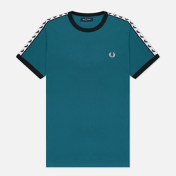 Мужская футболка Fred Perry Taped Ringer Light Petrol