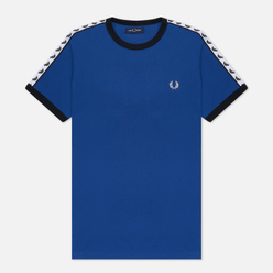 Мужская футболка Fred Perry Taped Ringer Nautical Blue
