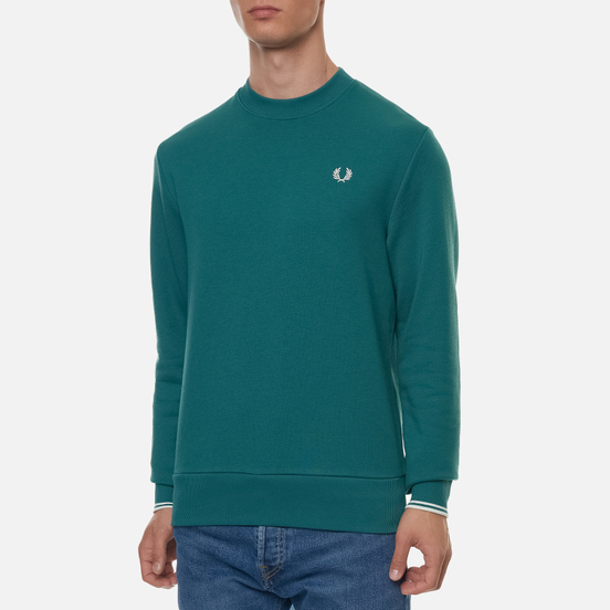 Мужская толстовка Fred Perry Crew Neck Light Petrol