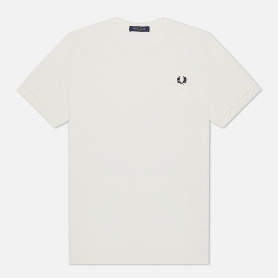 Мужская футболка Fred Perry Modernist Streetwear Pocket Detail Pique Snow White