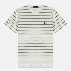 Мужская футболка Fred Perry Colour Block Fine Stripe Snow White