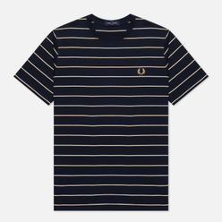 Мужская футболка Fred Perry Colour Block Fine Stripe Navy