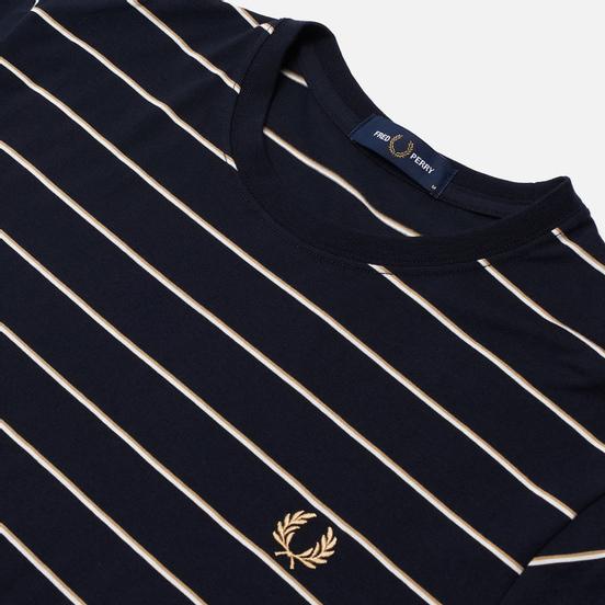 Мужская футболка Fred Perry Colour Block Fine Stripe Navy
