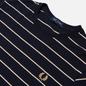 Мужская футболка Fred Perry Colour Block Fine Stripe Navy фото - 1