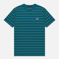 Мужская футболка Fred Perry Colour Block Fine Stripe Light Petrol