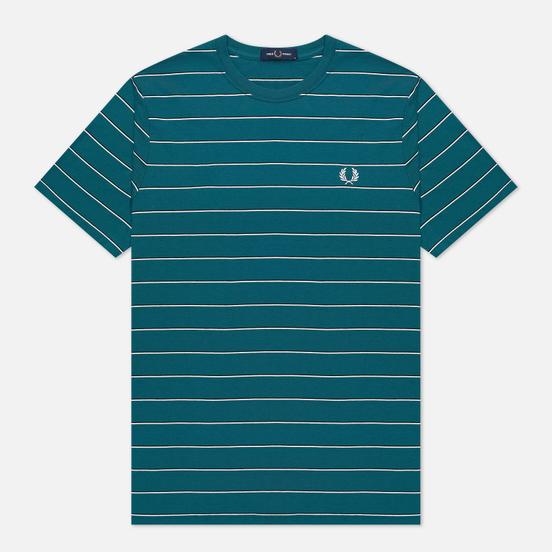 Мужская футболка Fred Perry Colour Block Fine Stripe Light Petrol