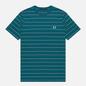 Мужская футболка Fred Perry Colour Block Fine Stripe Light Petrol фото - 0