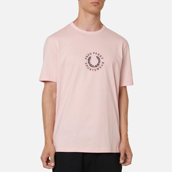 Мужская футболка Fred Perry Modernist Streetwear Branded Silver Pink