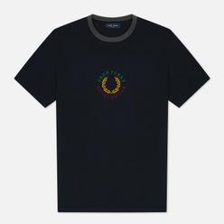 Мужская футболка Fred Perry Modernist Streetwear Branded Navy