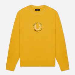 Мужская толстовка Fred Perry Modernist Streetwear Global Branded Gold