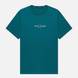 Мужская футболка Fred Perry Colour Block Graphic Light Petrol
