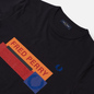 Мужская футболка Fred Perry Colour Block Mixed Graphic Navy фото - 1
