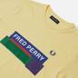 Мужская футболка Fred Perry Colour Block Mixed Graphic Daffodil фото - 1