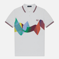 Мужское поло Fred Perry Abstract Sport White