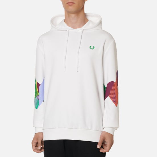 Мужская толстовка Fred Perry Abstract Sport Hoodie White