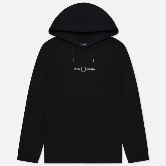 Мужская толстовка Fred Perry Colour Block Graphic Hoodie Black