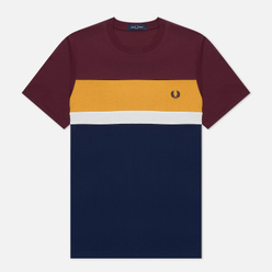 Мужская футболка Fred Perry Colour Block Mahogany
