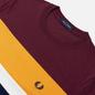 Мужская футболка Fred Perry Colour Block Mahogany фото - 1