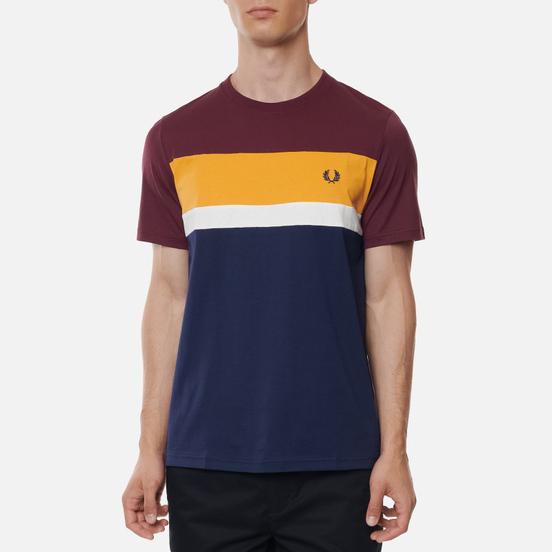 Мужская футболка Fred Perry Colour Block Mahogany