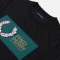 Мужская футболка Fred Perry Logo Colour Block Black фото - 1