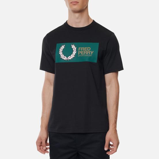 Мужская футболка Fred Perry Logo Colour Block Black