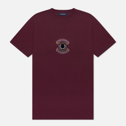 Мужская футболка Fred Perry Embroidered Sheild Mahogany