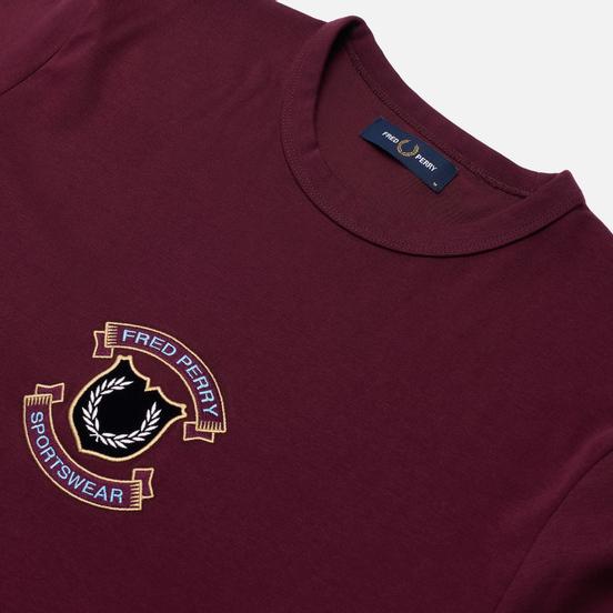 Мужская футболка Fred Perry Embroidered Sheild Mahogany