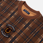 Мужская толстовка Fred Perry Shield Checked Caramel фото - 1