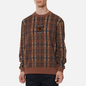 Мужская толстовка Fred Perry Shield Checked Caramel фото - 2