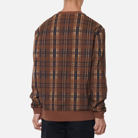 Мужская толстовка Fred Perry Shield Checked Caramel