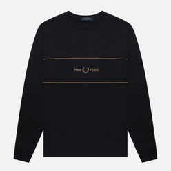 Мужской лонгслив Fred Perry Embroidered Panel Black