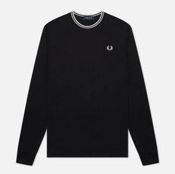 Мужской лонгслив Fred Perry LS Twin Tipped Black