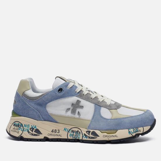 Мужские кроссовки Premiata Mase 4550 Blue/Olive/White