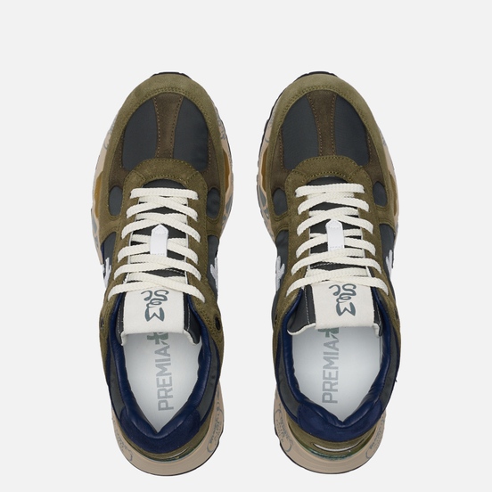Мужские кроссовки Premiata Mase 5162 Olive/Navy