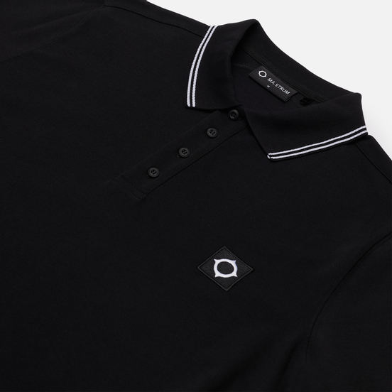 Мужской лонгслив MA.Strum Jersey Polo Jet Black