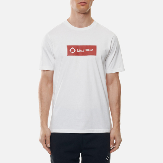 Мужская футболка MA.Strum Icon Box Logo Optic White/Burnt Orange