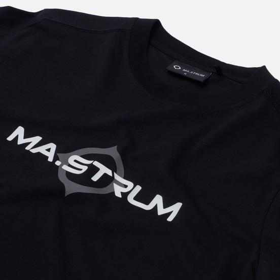 Мужской лонгслив MA.Strum Logo Print Jet Black