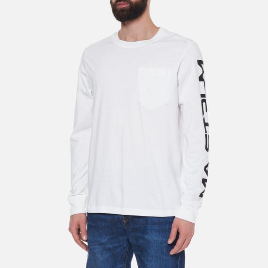 Мужской лонгслив MA.Strum Sleeve Print Optic White