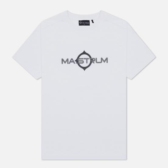 Мужская футболка MA.Strum Logo Print Optic White